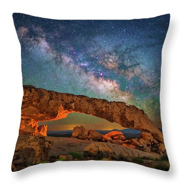 Arching Over The Arch Throw Pillow
