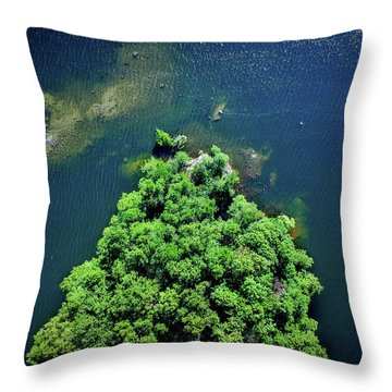 Archipelago Island - Aerial Photography Throw Pillow