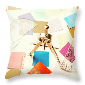 Architects Colour Pallet Throw Pillow