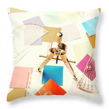Architects Colour Pallet Throw Pillow