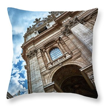 Architectural Majesty On Top Of The Sky Throw Pillow