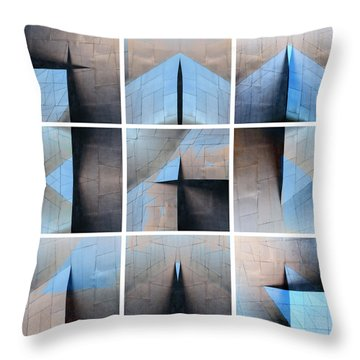 Architectural Reflections Nine-print Panel Throw Pillow