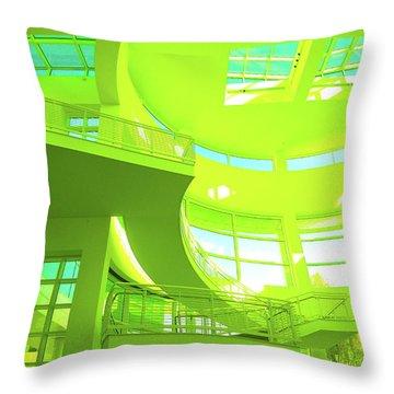Green Splash Architecture Throw Pillow