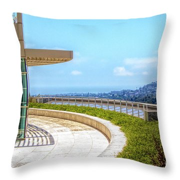 Architecture J. Paul Getty Museum California  Throw Pillow