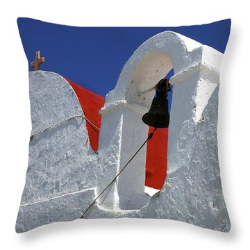 Throw Pillow featuring the photograph Architecture Mykonos Greece by Bob Christopher