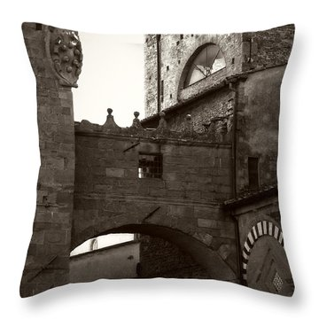 Architecture Of Pistoia Throw Pillow