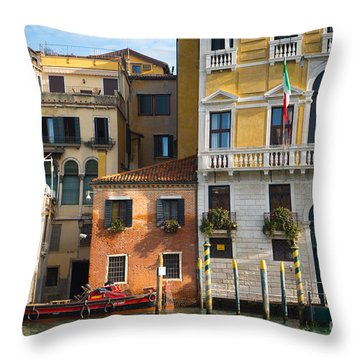 Architecture Of Venice - Italy Throw Pillow