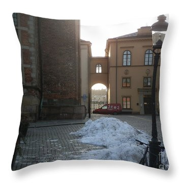 Archway In Stockholm Throw Pillow by Margaret Brooks