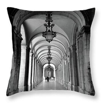 Archway Lisbon Portugal Throw Pillow