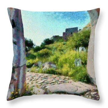 Archway On Palamidi Castle Throw Pillow