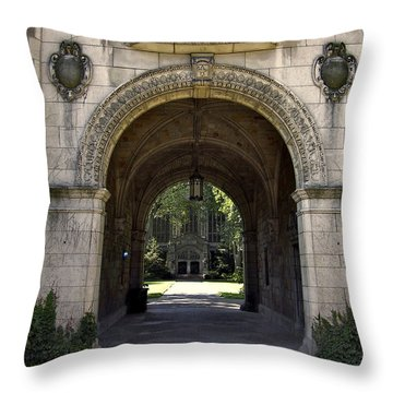 Archway To Education Throw Pillow by Richard Gregurich