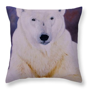 Arcqtic Majesty Throw Pillow by Jean Yves Crispo