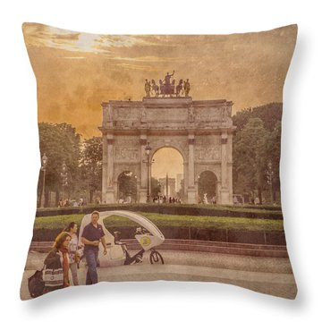Paris, France - Arcs Throw Pillow