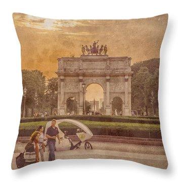 Paris, France - Arcs Throw Pillow