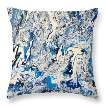 Arctic Frenzy Throw Pillow