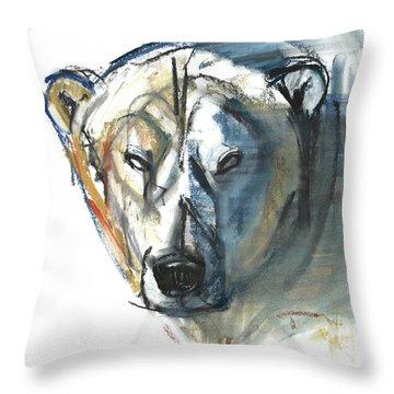 Arctic Icon Throw Pillow by Mark Adlington
