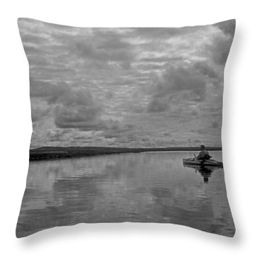 Arctic Kayak Throw Pillow
