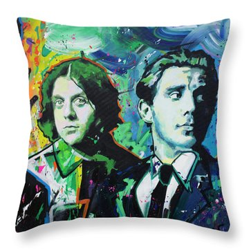 Throw Pillow featuring the painting Arctic Monkeys by Richard Day