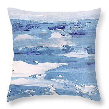 Arctic Ocean Throw Pillow