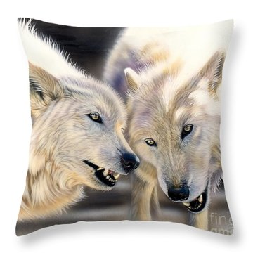 Arctic Pair Throw Pillow