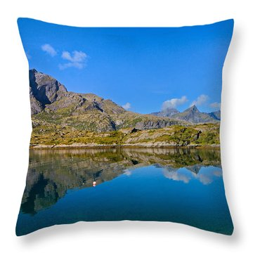Arctic Reflections Throw Pillow by Maciej Markiewicz