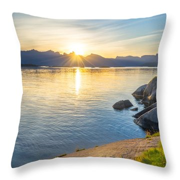 Arctic Sunrise Throw Pillow by Maciej Markiewicz