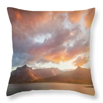 Arctic Susnset Throw Pillow