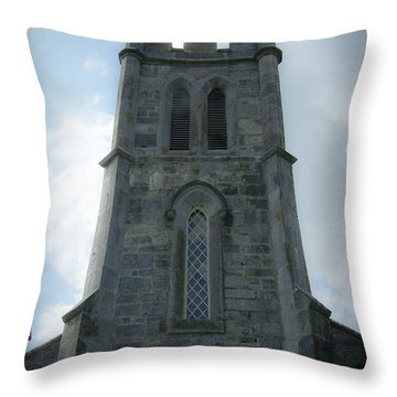 Ardcroney Church County Clare Ireland Throw Pillow by Teresa Mucha