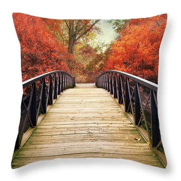 Throw Pillow featuring the photograph Ardent Autumn by Jessica Jenney