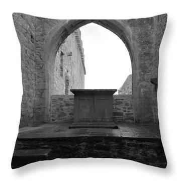 Ardfert Cathedral Throw Pillow
