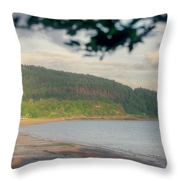 Ardmucknish Bay Throw Pillow by Ray Devlin