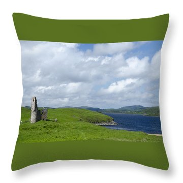 Ardvreck Castle Throw Pillow