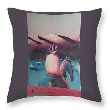 Are There Anymore Real Cowboys? Throw Pillow
