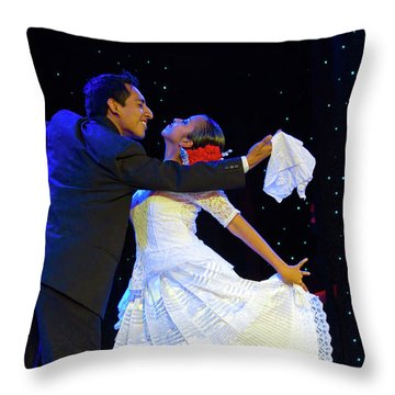 Are These Latin Dancers In Love Throw Pillow