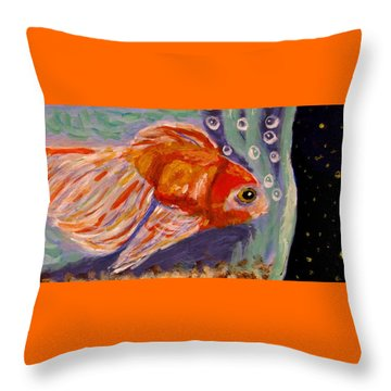 Are We Alone Throw Pillow by Angela Davies