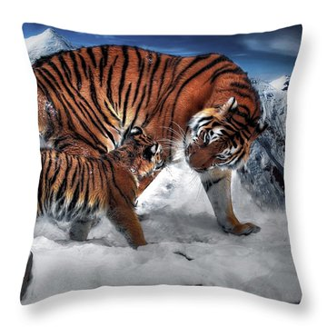 Throw Pillow featuring the digital art Are We There Yet by Pennie McCracken