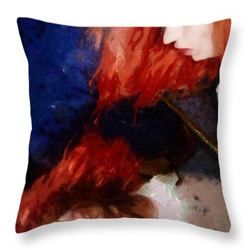 Throw Pillow featuring the digital art Are You There My Mirror Twin by Gun Legler