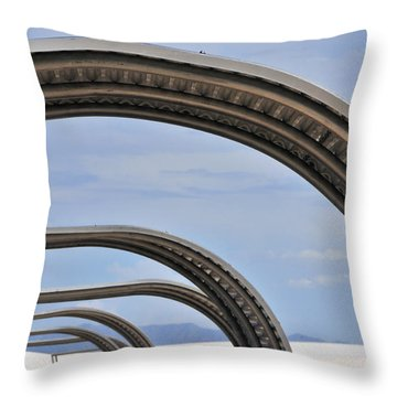 Area 13 Throw Pillow by Skip Hunt