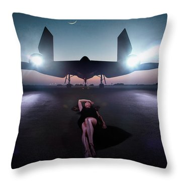 Area 71 Night Fire Throw Pillow