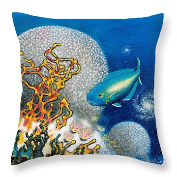 Areiti -the Little Wave Throw Pillow by Lee Pantas