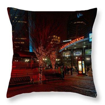 D66l-4 Arena District Photo Throw Pillow