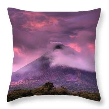 Arenal Volcano Throw Pillow by Dolly Sanchez