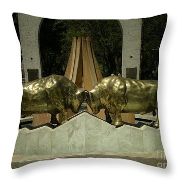 Arequipa Peru Throw Pillow by Carol Ailles