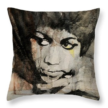 Aretha Franklin - Don't Play That Song For Me  Throw Pillow