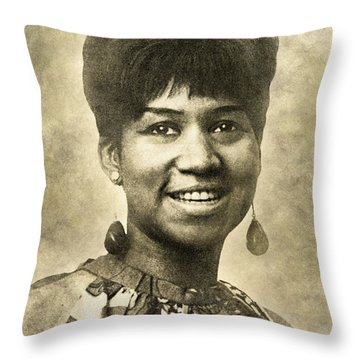 Aretha Franklin Queen Of Soul Throw Pillow