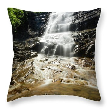 Throw Pillow featuring the photograph Arethusa Falls by Robert Clifford