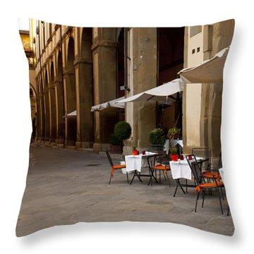 Arezzo Patio Throw Pillow by Rae Tucker