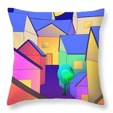 Arfordir Vi Throw Pillow