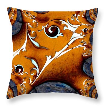 Arfully Inclined Throw Pillow