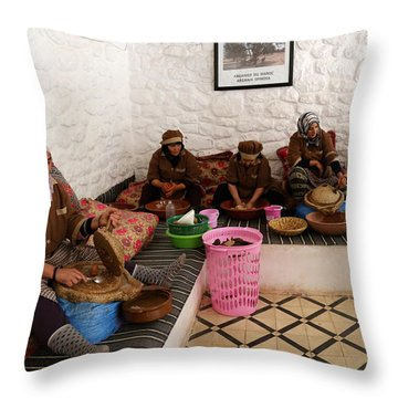 Throw Pillow featuring the photograph Argan Oil 1 by Andrew Fare